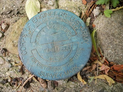 Detailed close up view of the survey disc.