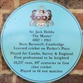 Image for FIRST - Professional Cricketer to be Knighted - Jack Hobbs, Parker's Piece, Cambridge, UK