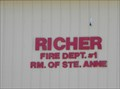 Image for Richer Fire Dept. #1 ~ R.M. of Ste.Anne