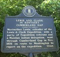 Image for Lewis and Clark in Kentucky Cumberland Gap - Middlesboro, KY