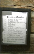 Image for Chronicle of David Crockett - 1784 - 1836 - Lawrenceburg, TN