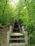 Image for Stairway at Hayes State Park - Wamplers Lake,Mich.