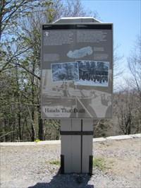 Hands That Built Sign Setting, Newfound Gap, North Carolina