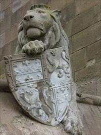 Lion - Bute Park Gate, Cardiff, Wales.