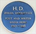 Image for Hilda Doolittle - Mecklenburgh Square, London, UK