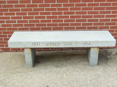 I have made outstanding pictures of the courthouse and memorial flags but but a bench is just a bench.