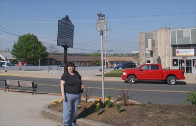 geotrooperz-gm at the G Washington historical marker at Rochambeau Plaza, Havre de Grace, Harford County, Maryland