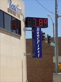 Image for Banc First Time and Temperature sign - Blackwell, OK