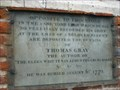 Image for Memorial to Thomas Gray- Poet