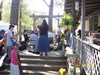Back porch jam at the Winter Creek Reunion 2014, by MountainWoods.  This is the hot, sticky day.  The next day we would all be wearing jackets at this time!  I joined this jam for a while, playing the hammered dulcimer.