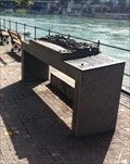 Image for Münster hill, Basel - Bronze model on the North bank of the Rhine