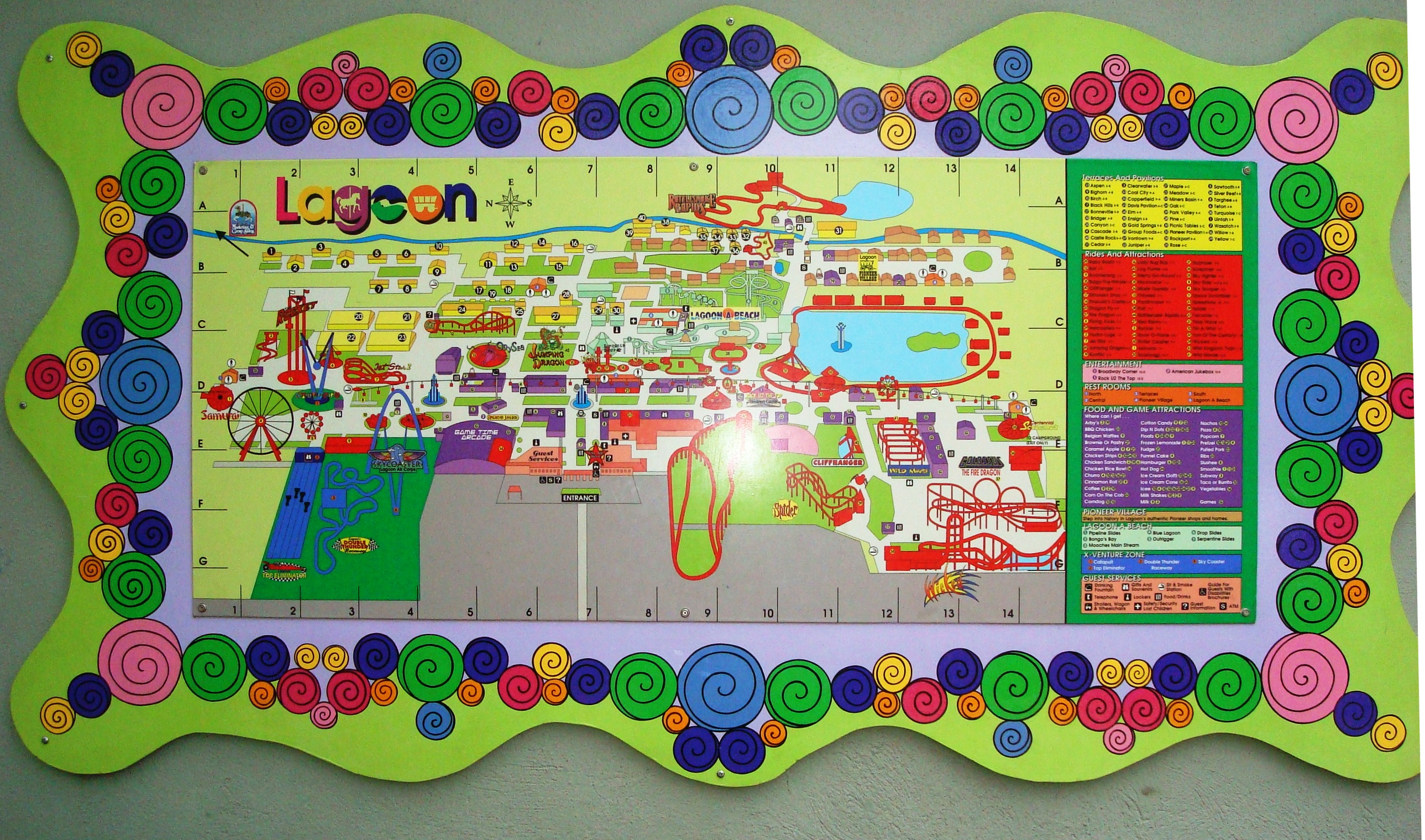 Lagoon Amusement Park Map  Wwwgalleryhip  The