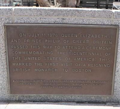 veritas vita visited Bicentennial plaque - Boston