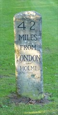 Image for Mile Stone - A1(M), (Great North Road), Holme, Bedfordshire, UK.