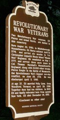Image for Revolutionary War Veterans Historical Marker