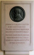 Image for Francis Corder Clayton - The University of Birmingham - Edgbaston, Birmingham, U.K.