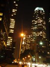 Figueroa at Wilshire facing Southwest, Sanwa Bank Plaza (right), 777 Tower (Pelli Building, center far)-Downtown Los Angeles, CA