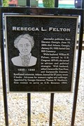 Image for FIRST - Woman to serve in the US Senate - Cartersville, GA
