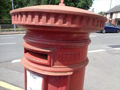 Victorian Pillar Box - Gnoll Avenue - Neath, Wales.
