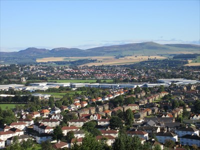 View over the northern suburbs with the Sidlaw Hills beyond.