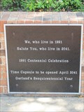Image for Centennial Time Capsule -- Garland TX