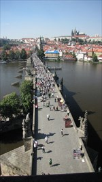 On our trip to prague in 2013 (Geocaching MEGA) we come along this bridge,.... ;-)