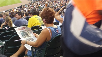 Go to the game and read the newspaper?!