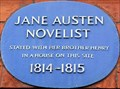 Image for Jane Austen - Hans Place, London, UK