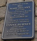 Image for Mary Delaney & Fanny Burney -- St Alban's Street, Windsor, Berkshire, UK