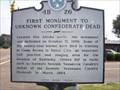 Image for First Monument to Unknown Confederate Dead