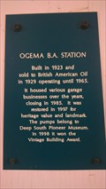 Image for Ogema B.A. Station