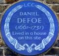 Image for Daniel Defoe - Defoe Road, London, UK