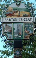 Image for Village Sign, Barton le Clay, Beds, UK