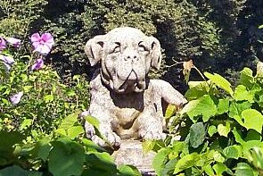 This Boxer Dog In The Garden Of Babelsberg Palace Is Believed To Be One Of  The Dogs Of Germanyu0027s First Emperor Kaiser William I.