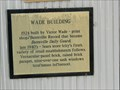 Image for Wade Building marker - Batesville, Ar.