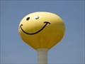 Image for Smiley Face Water Tower - Satellite Oddity - Atlanta, Illinois, USA
