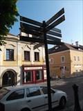 Image for Direction arrow - Kutnohorská street - Kolín - Czech Republic
