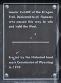 Image for Lander Cut-Off of the Oregon Trail