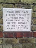 Image for Stephen Knight, Martyr, 1555 - Maldon Ironworks Company Limited building, Fullbridge, Maldon. CM9 4LE