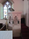 Image for Font & Pulpit, First Trinity Church, Heol Y Bont, Aberaeron, Ceredigion, Wales, UK