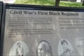 Image for First Black Regiment in the Civil War  -  New Bedford, MA