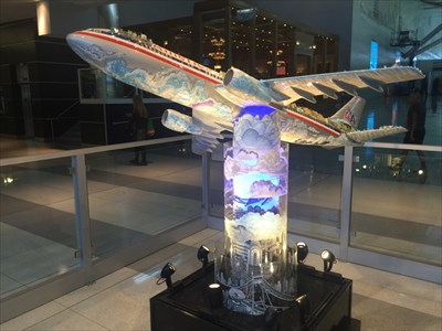 From New York to the World by Charles Fazzino, JFK Airport, Terminal 8