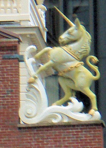 Unicorn of Scotland - Old State House - Boston, MA - Epic Beings and  Creatures on Waymarking.com