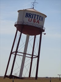 Britten Water Tower - Route 66 - Groom, Texas.