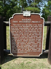 Nation's First Watershed Project Historical Marker