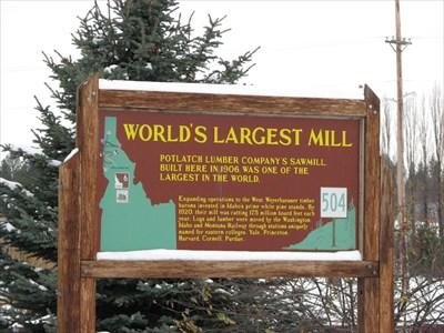 Potlatch Idaho Map.Worlds Largest Mill Potlatch Idaho Idaho Historical Markers On