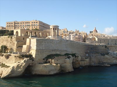 View from the port in Valetta Malta