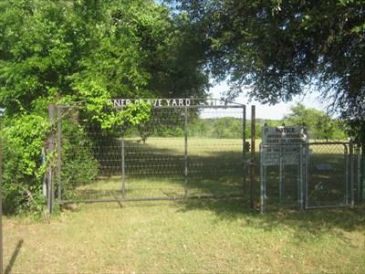 The locked gates of Turner Graveyard.