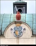 Image for Historický znak Frýdku na Bezrucove škole / Frýdek historic CoA on Bezruc' School - Masarykova trída (Frýdek-Místek, North Moravia)