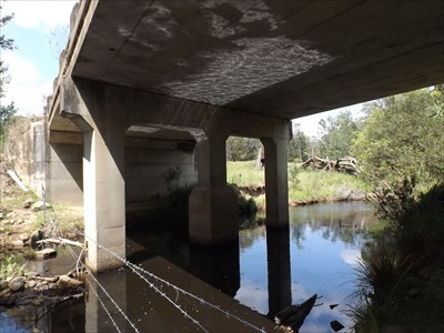 'Under' view of the concrete bridge over Scotters Creek, built in 1962.1029, Sunday, 27 November, 2016